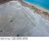 Купить «Top view of the salt lake mud sources. External similarity with craters. Mud healing springs», фото № 28005654, снято 22 января 2019 г. (c) PantherMedia / Фотобанк Лори