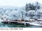 Winter Landcape lake. Стоковое фото, фотограф Vichaya Kiatying-Angsulee / PantherMedia / Фотобанк Лори