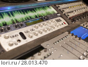 Купить «music mixing console at sound recording studio», фото № 28013470, снято 18 августа 2016 г. (c) Syda Productions / Фотобанк Лори