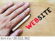 Купить «Website text concept», фото № 28022362, снято 21 июля 2019 г. (c) PantherMedia / Фотобанк Лори