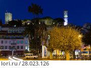 Купить «Streets of Cannes in the evening in France», фото № 28023126, снято 3 декабря 2017 г. (c) Яков Филимонов / Фотобанк Лори