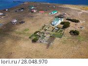 Купить «Aerial view of The Settlement, Pebble Island, Falkland Islands, December 2016», фото № 28048970, снято 20 мая 2019 г. (c) Nature Picture Library / Фотобанк Лори