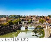 Купить «Вид на Рим из замка Святого ангела, Италия», фото № 28049310, снято 9 сентября 2017 г. (c) Наталья Волкова / Фотобанк Лори