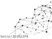 Купить «Plexus background with lines and spheres», иллюстрация № 28052074 (c) Кирилл Черезов / Фотобанк Лори