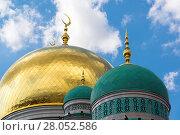 Купить «Domes of Cathedral Mosque in Moscow Russia», фото № 28052586, снято 21 июля 2017 г. (c) Володина Ольга / Фотобанк Лори