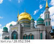 Купить «Domes of Cathedral Mosque in Moscow Russia», фото № 28052594, снято 21 июля 2017 г. (c) Володина Ольга / Фотобанк Лори
