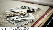 Купить «Image of variants of carpets», фото № 28053250, снято 22 ноября 2017 г. (c) Яков Филимонов / Фотобанк Лори