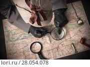 Купить «Детектив за работой», фото № 28054078, снято 11 февраля 2018 г. (c) Угоренков Александр / Фотобанк Лори