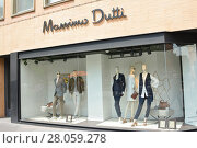 TOULOUSE, FRANCE - JULY 23, 2016: Storefront of fashion Spanish mark MASSIMO DUTTI in the centre of the city Toulouse. Редакционное фото, фотограф Ирина Аринина / Фотобанк Лори