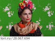 Купить «Portrait of a beautiful young woman», фото № 28067694, снято 17 февраля 2018 г. (c) Алексей Кузнецов / Фотобанк Лори