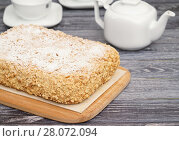 """Купить «Торт """"Подарочный""""», эксклюзивное фото № 28072094, снято 23 февраля 2018 г. (c) Dmitry29 / Фотобанк Лори"""