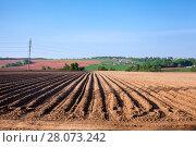 Купить «Сельскохозяйственные угодья, обработанные под посев», фото № 28073242, снято 21 мая 2011 г. (c) Кекяляйнен Андрей / Фотобанк Лори