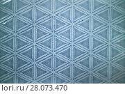 Купить «Decorative ceramic blue tile with figured pattern», фото № 28073470, снято 14 февраля 2018 г. (c) Ярослав Данильченко / Фотобанк Лори