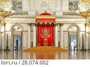 Купить «St George's Hall (referred to as Great Throne Room)  in Winter Palace», фото № 28074002, снято 25 января 2015 г. (c) Валерия Попова / Фотобанк Лори