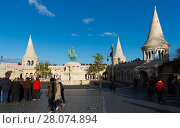 Купить «Fisherman Bastion, Budapest», фото № 28074894, снято 29 октября 2017 г. (c) Яков Филимонов / Фотобанк Лори
