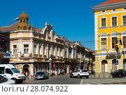 Купить «Streets of Satu Mare in Romania», фото № 28074922, снято 14 сентября 2017 г. (c) Яков Филимонов / Фотобанк Лори