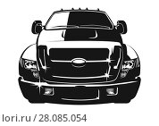 Купить «Cartoon vector car», иллюстрация № 28085054 (c) Александр Володин / Фотобанк Лори