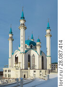 Купить «Мечеть «Кул-Шариф» в Казани», фото № 28087414, снято 31 декабря 2017 г. (c) Ирина Носова / Фотобанк Лори