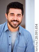 Купить «Outdoor Head And Shoulders Portrait Of Smiling Mature Man», фото № 28091654, снято 2 сентября 2016 г. (c) easy Fotostock / Фотобанк Лори