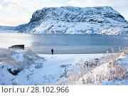 Купить «Зимний пейзаж. Кольский полуостров.», фото № 28102966, снято 5 ноября 2016 г. (c) Victoria Demidova / Фотобанк Лори