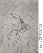 """Купить «Jean Froissart, c. 1337 â. """" c. 1405. Important chronicler of medieval France. From Science and Literature in The Middle Ages by Paul Lacroix published London 1878.», фото № 28105122, снято 20 сентября 2007 г. (c) age Fotostock / Фотобанк Лори"""