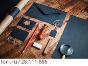 Купить «Black branding template», фото № 28111886, снято 13 июля 2020 г. (c) easy Fotostock / Фотобанк Лори