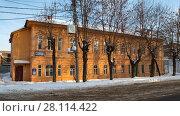 Купить «Жилой дом в г. Уфе по адресу улица Мустая Карима, 6», фото № 28114422, снято 4 марта 2018 г. (c) Коротнев / Фотобанк Лори