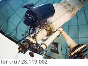 Купить «modern telescope in observatory», фото № 28119002, снято 17 апреля 2016 г. (c) Яков Филимонов / Фотобанк Лори