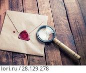 Купить «Envelope and magnifier», фото № 28129278, снято 13 июля 2020 г. (c) easy Fotostock / Фотобанк Лори