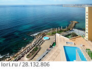 Купить «Promenade of Torrevieja city, view from above. Costa Blanca. Spain», фото № 28132806, снято 4 марта 2018 г. (c) Alexander Tihonovs / Фотобанк Лори