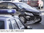 Купить «car accident at shallow depth of field», фото № 28144634, снято 23 февраля 2018 г. (c) Дмитрий Бачтуб / Фотобанк Лори