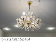 Купить «Huge chandelier closeup», фото № 28152434, снято 15 сентября 2019 г. (c) Ольга Сапегина / Фотобанк Лори