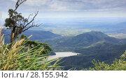 Купить «Tropical landscape with mountains and rivers in Lam Dong area, Vietnam», видеоролик № 28155942, снято 26 декабря 2016 г. (c) Алексей Кузнецов / Фотобанк Лори