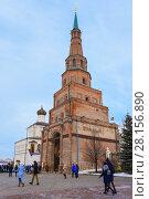 Купить «Казанский кремль, сторожевая башня Сююмбике», фото № 28156890, снято 31 декабря 2017 г. (c) Ирина Носова / Фотобанк Лори