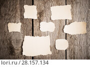 Купить «old paper on wooden background», фото № 28157134, снято 1 марта 2018 г. (c) Майя Крученкова / Фотобанк Лори