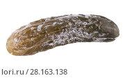 Купить «Испорченный плесенью соленый огурец», фото № 28163138, снято 1 марта 2018 г. (c) Румянцева Наталия / Фотобанк Лори