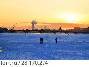 Купить «Annunciation bridge at sunset in winter», фото № 28170274, снято 7 марта 2018 г. (c) Максим Мицун / Фотобанк Лори