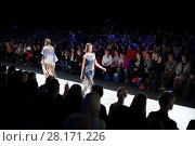Купить «MOSCOW - MAR 25, 2016: Show of XI International Competition of Young Designers Russian Silhouette in Gostiny Dvor during Fashion Week in Moscow», фото № 28171226, снято 25 марта 2016 г. (c) Losevsky Pavel / Фотобанк Лори