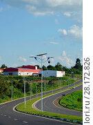 Купить «Public lighting, Jamil Nasser Highway, MG-450, 2017, Guaxupé, Minas Gerais, Brazil.», фото № 28172826, снято 9 декабря 2017 г. (c) age Fotostock / Фотобанк Лори