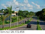 Купить «Public lighting, Jamil Nasser Highway, MG-450, 2017, Guaxupé, Minas Gerais, Brazil.», фото № 28172854, снято 9 декабря 2017 г. (c) age Fotostock / Фотобанк Лори