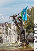 Купить «День ВДВ в городе Раменское, Московская область», фото № 28178150, снято 2 августа 2014 г. (c) Владимир Сергеев / Фотобанк Лори