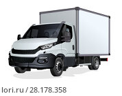 Купить «Vector truck template isolated on white», иллюстрация № 28178358 (c) Александр Володин / Фотобанк Лори