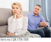 Купить «resentful mature couple quarreling at home with each other», фото № 28179150, снято 21 ноября 2019 г. (c) Яков Филимонов / Фотобанк Лори