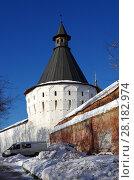 Купить «Москва, Новоспасский монастырь зимой», фото № 28182974, снято 27 февраля 2018 г. (c) Natalya Sidorova / Фотобанк Лори
