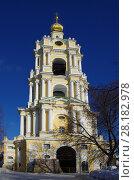 Купить «Москва, Новоспасский монастырь зимой», фото № 28182978, снято 27 февраля 2018 г. (c) Natalya Sidorova / Фотобанк Лори