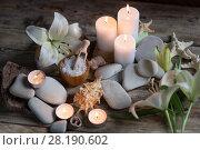 Купить «Beautiful composition of spa», фото № 28190602, снято 13 марта 2018 г. (c) Типляшина Евгения / Фотобанк Лори