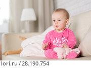 Купить «Baby eight months in the room», фото № 28190754, снято 6 февраля 2018 г. (c) Типляшина Евгения / Фотобанк Лори