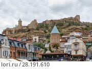 Купить «View of Narikala fortress, Tbilisi, Georgia», фото № 28191610, снято 5 октября 2017 г. (c) Boris Breytman / Фотобанк Лори