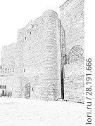 Купить «Девичья башня. Баку. Азербайджан», иллюстрация № 28191666 (c) Евгений Ткачёв / Фотобанк Лори