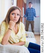 Купить «Young husband blaming girl during quarrelling», фото № 28194082, снято 18 июля 2019 г. (c) Яков Филимонов / Фотобанк Лори